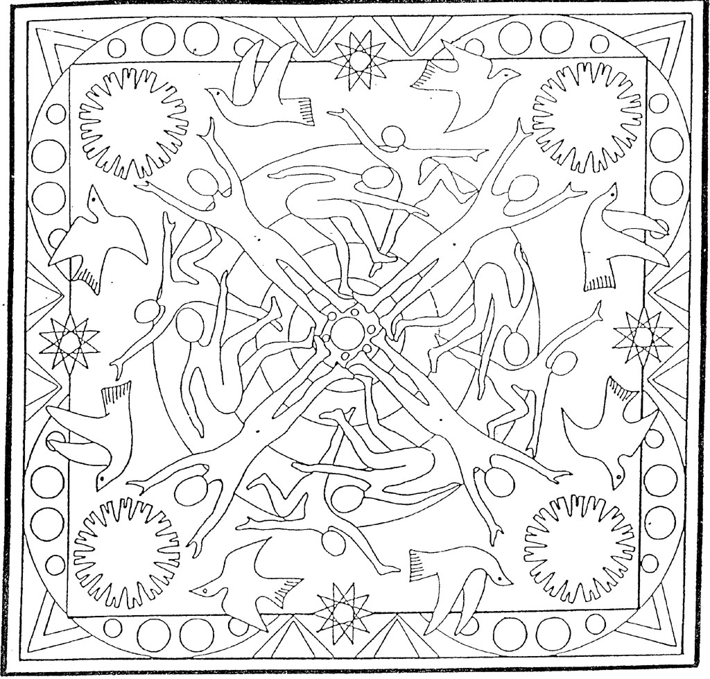 coloriage mandala indien