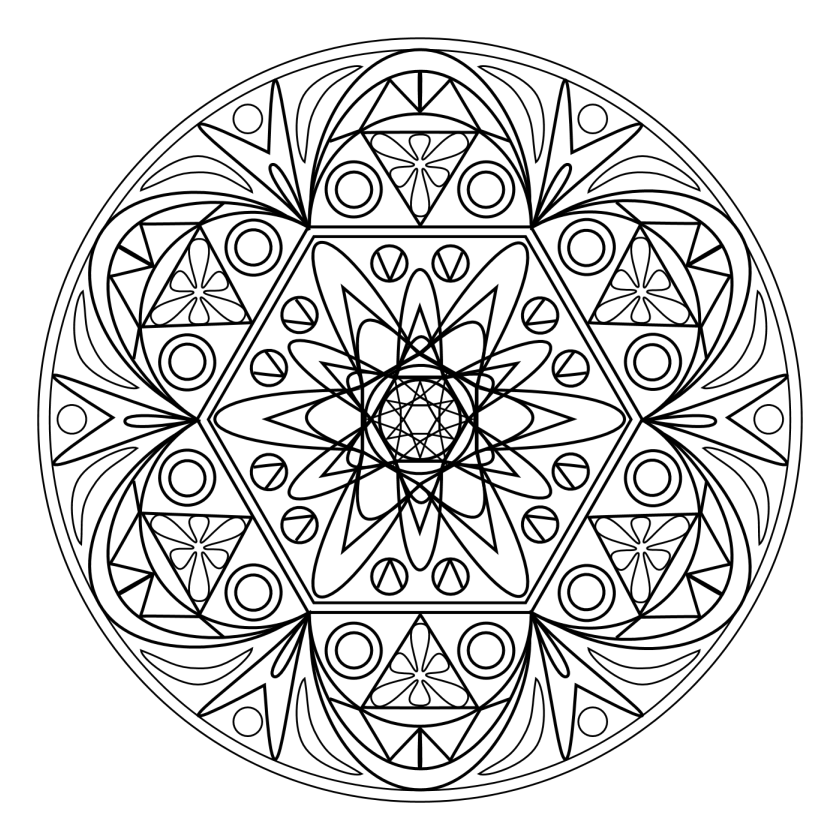 coloriage mandala relaxation