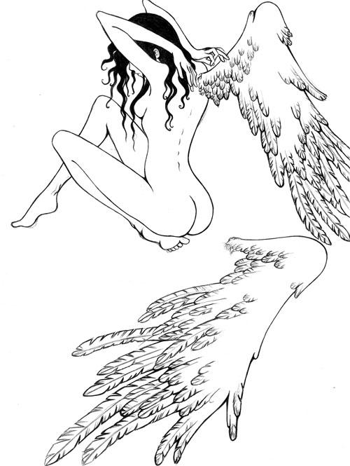 Dessin Ange Triste 15 dessins de coloriage manga ange à imprimer
