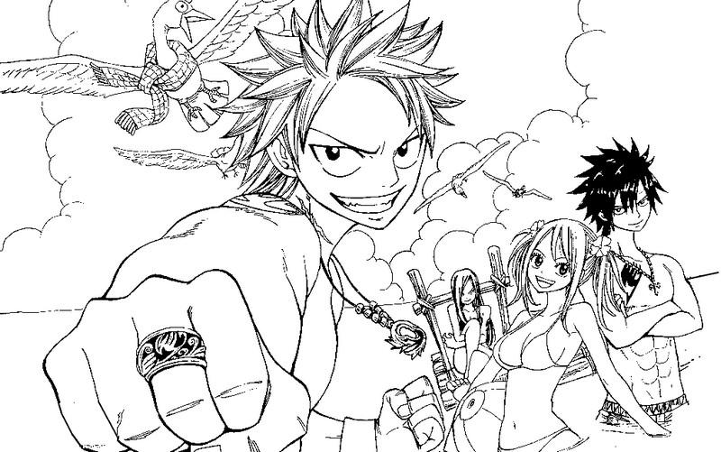 19 Dessins De Coloriage Manga Fairy Tail à Imprimer