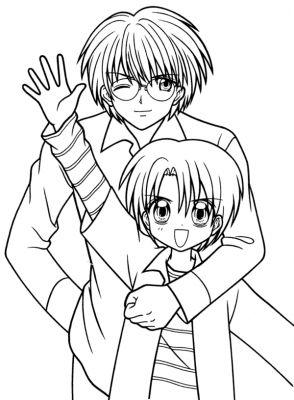 Manga Fille Et Garçon Calin Dessin