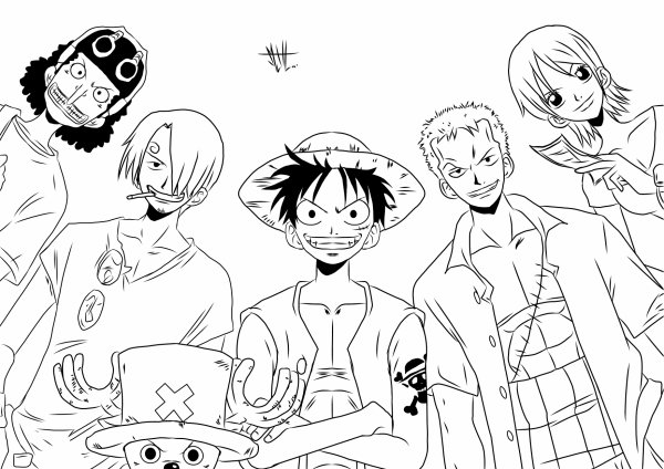 Coloriage Manga One Piece Grand Roissy
