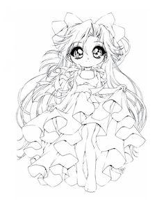 19 Dessins De Coloriage Manga Princesse A Imprimer