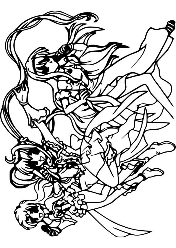 coloriage manga pour adolescent