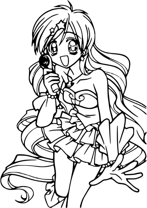 coloriage petit manga