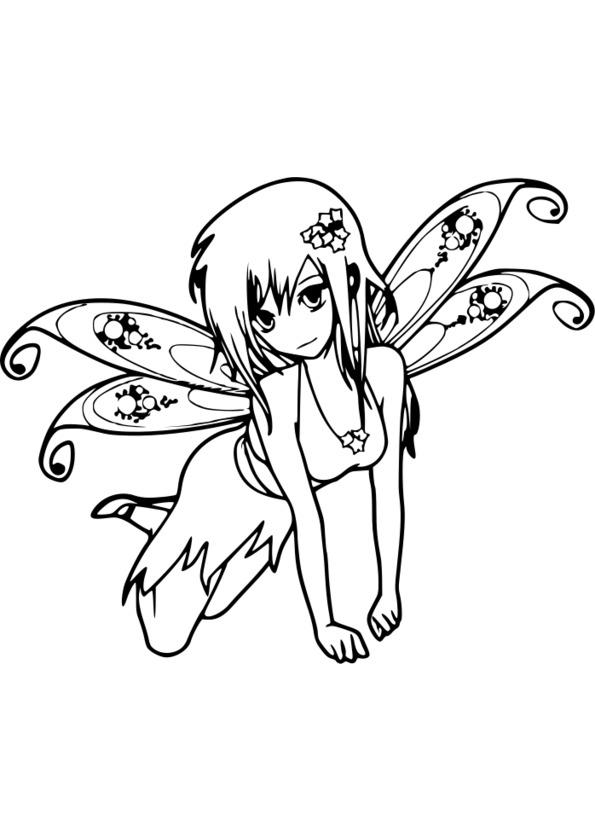 coloriage manga sakura
