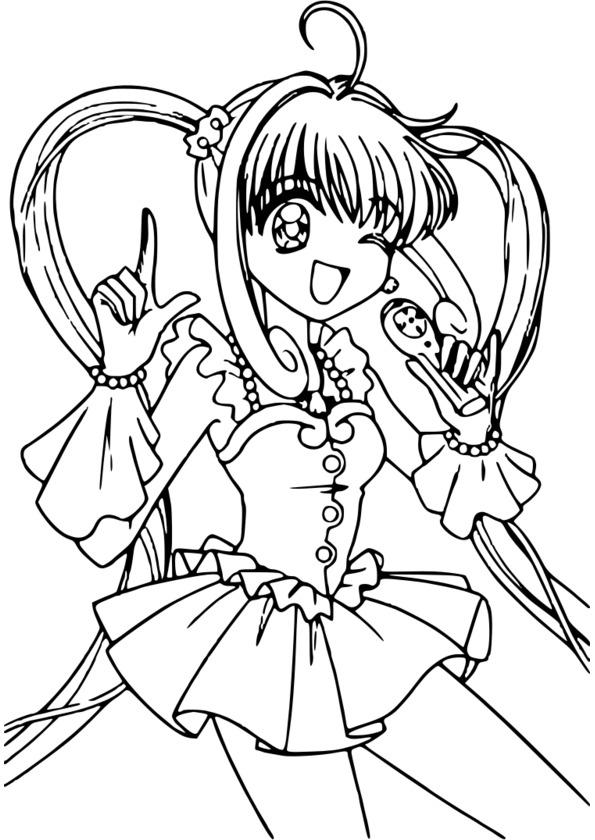coloriage manga natsu