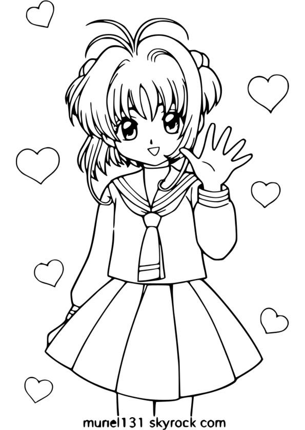 Coloriage manga noir et blanc - Dessin ange noir et blanc ...