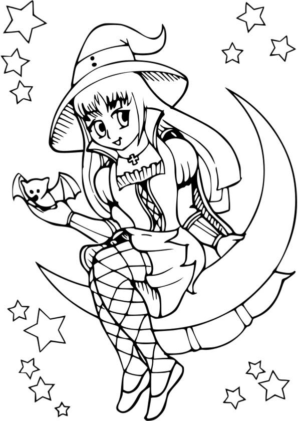 Dessin de fille manga gothique a colorier dessin de manga - Fille a colorier ...