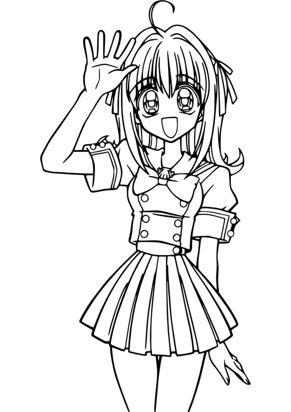 Coloriage Manga Pour Ado