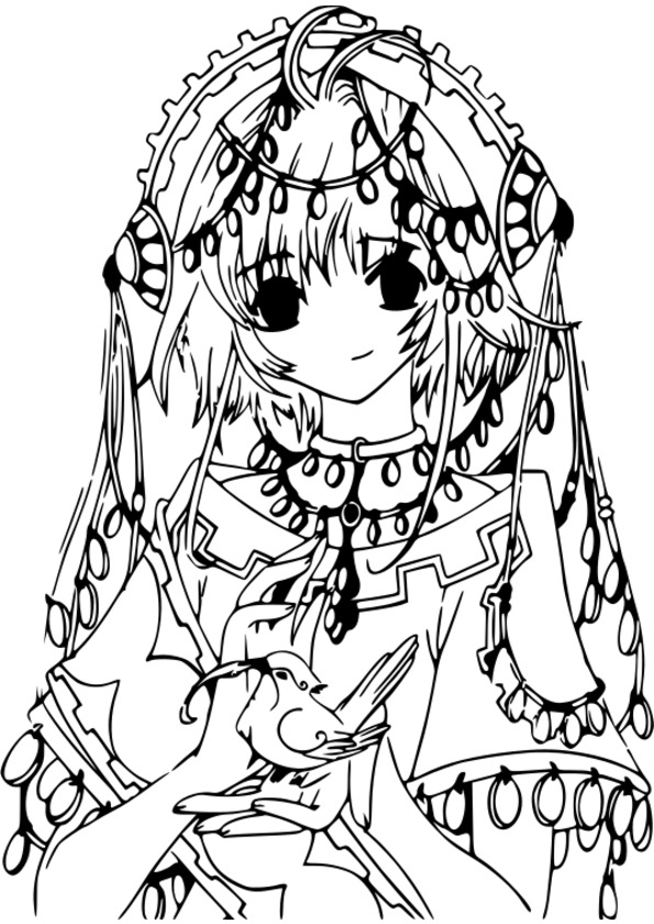 coloriage de manga negima