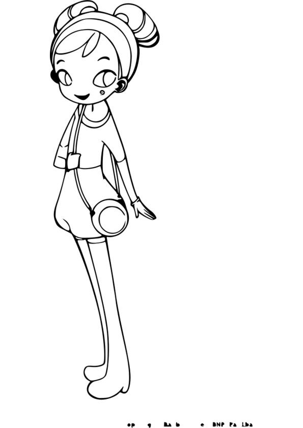 Coloriage manga de fille - Coloriage manga fille ...