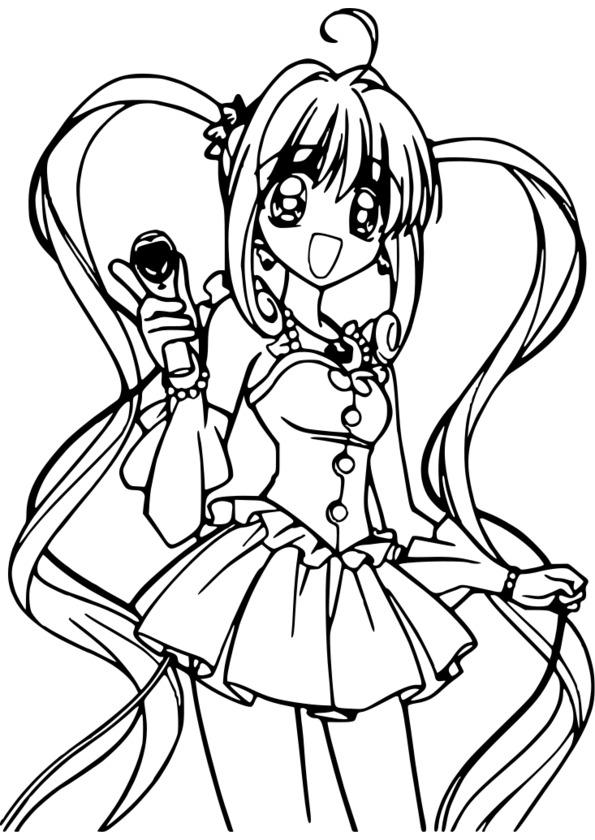 coloriage à imprimer manga gratuit