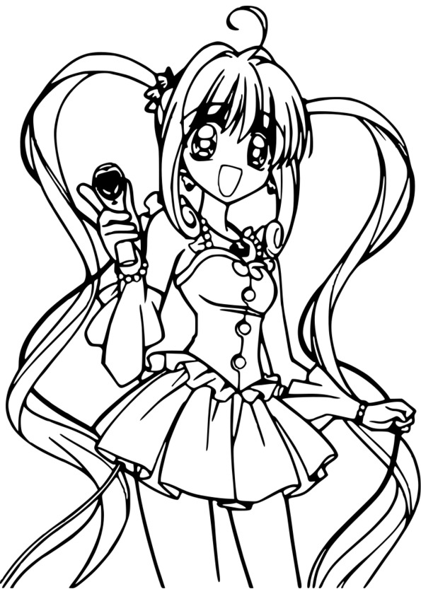 Coloriage ã Imprimer Manga Gratuit