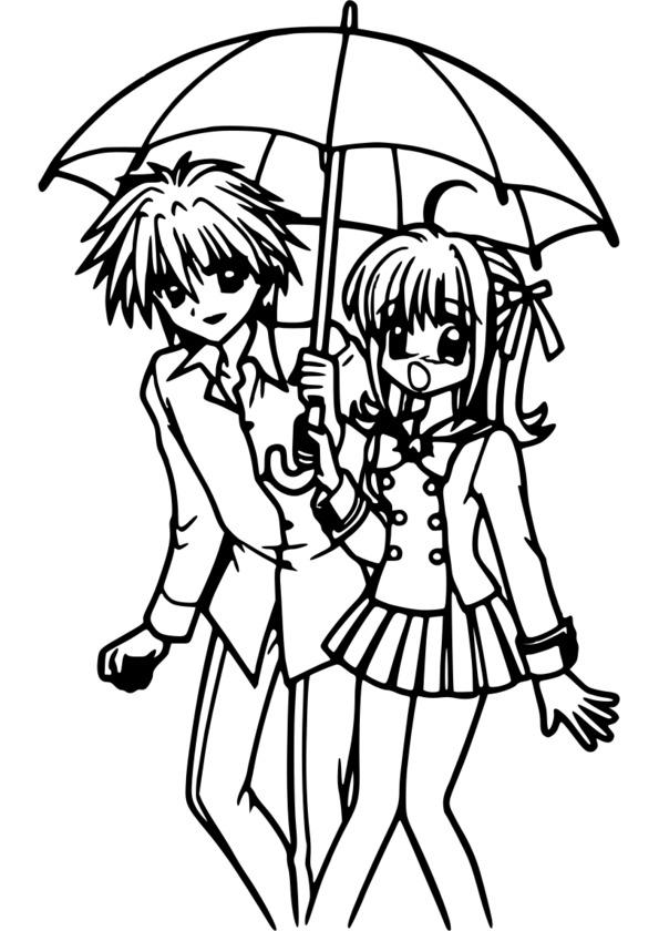 Dessin de manga tome 1 - Dessin de manga a colorier ...