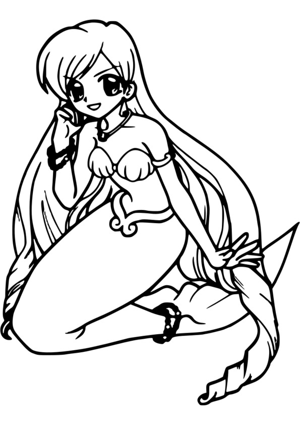 coloriage manga pour fille