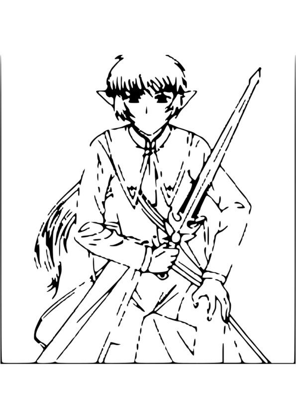 coloriage manga difficile