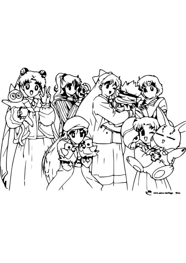 Coloriage manga vampire knight - Coloriage manga difficile ...