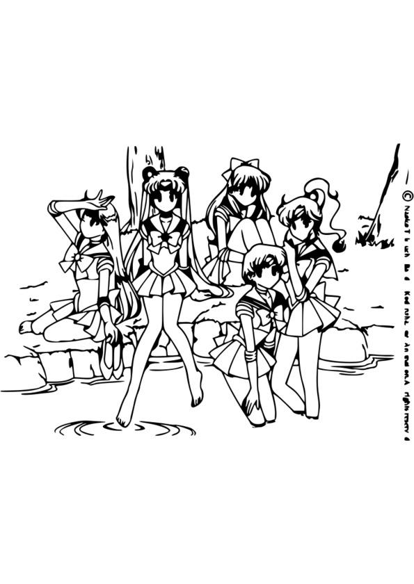 coloriage a imprimer manga