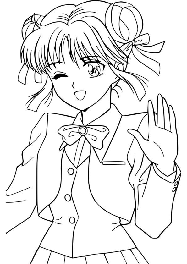 dessin manga fille a imprimer