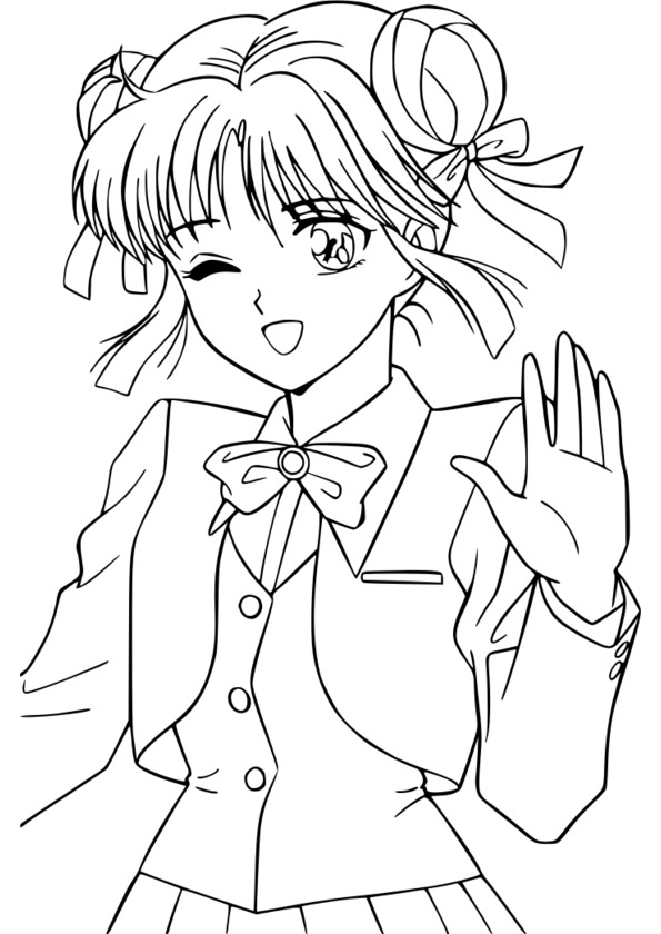 127 dessins de coloriage manga imprimer - Coloriage manga difficile ...