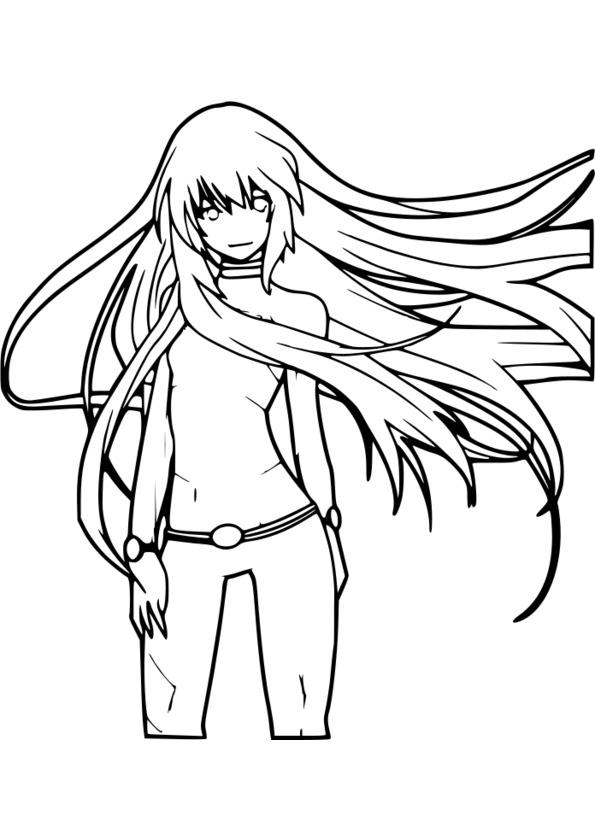 127 dessins de coloriage manga imprimer - Dessin ange noir et blanc ...