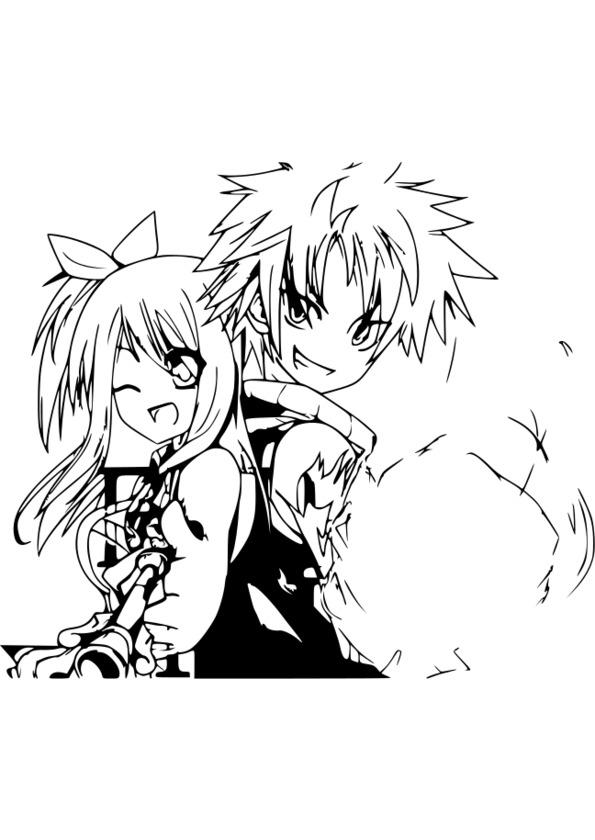 144 Dessins De Coloriage Manga A Imprimer