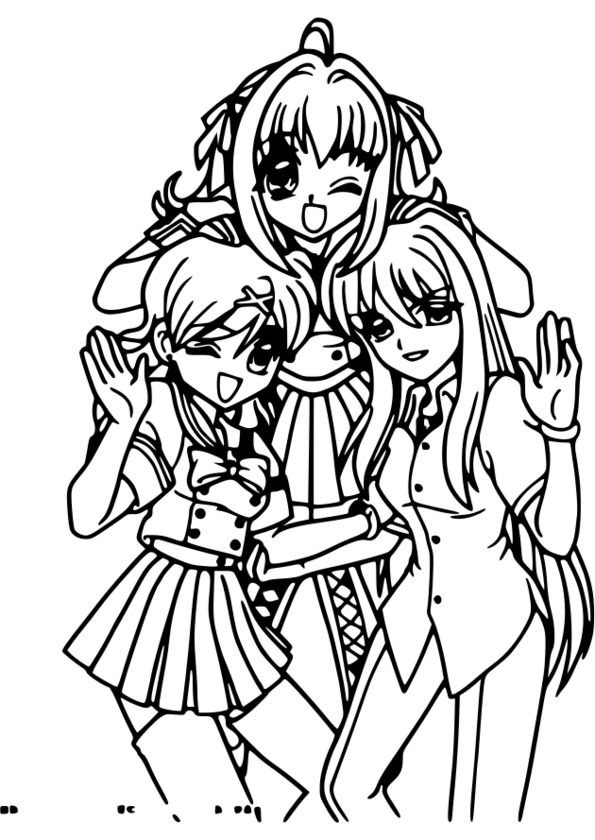coloriage manga japonaise