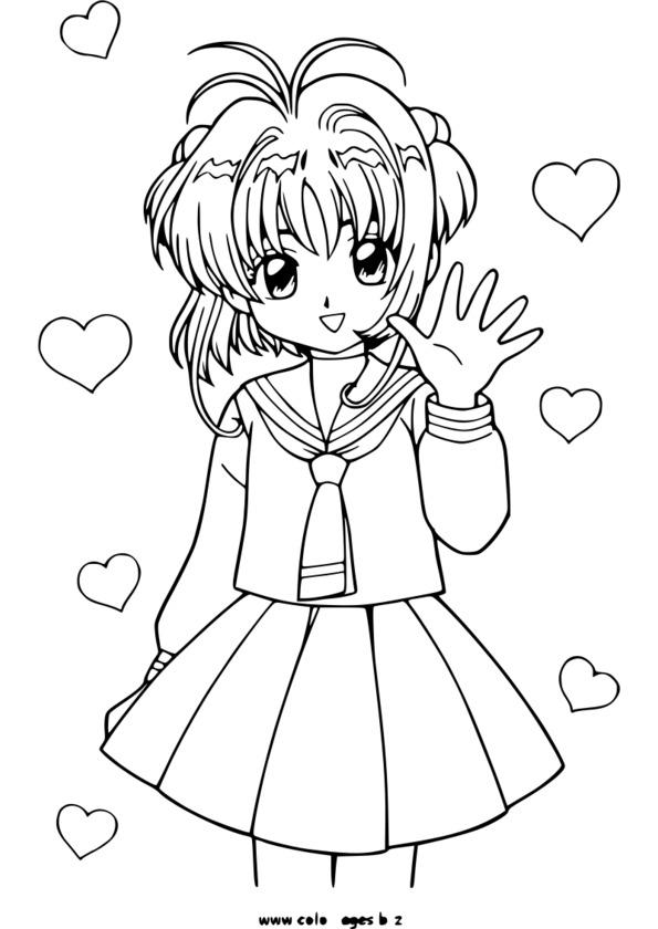 coloriage manga noel