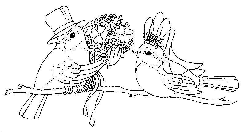 dessin à colorier mariage imprimer gratuit