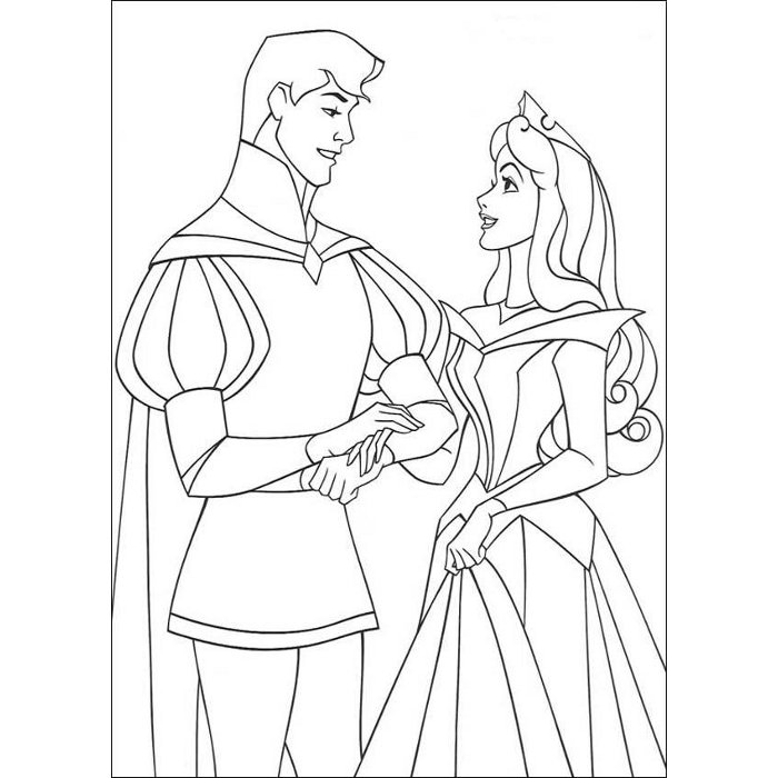 coloriage mariage princesse disney