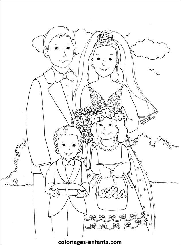 dessin mariage barbie et ken
