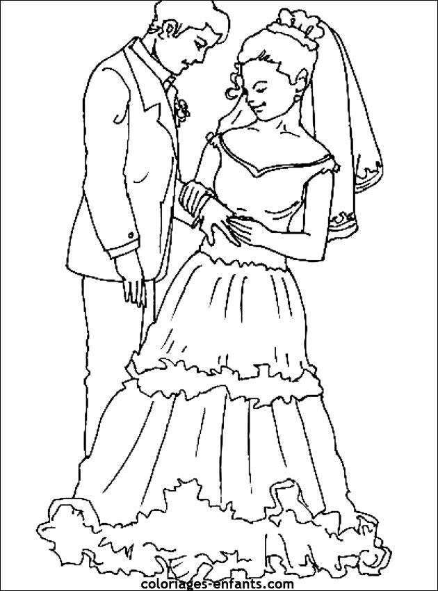 dessin mariage à imprimer