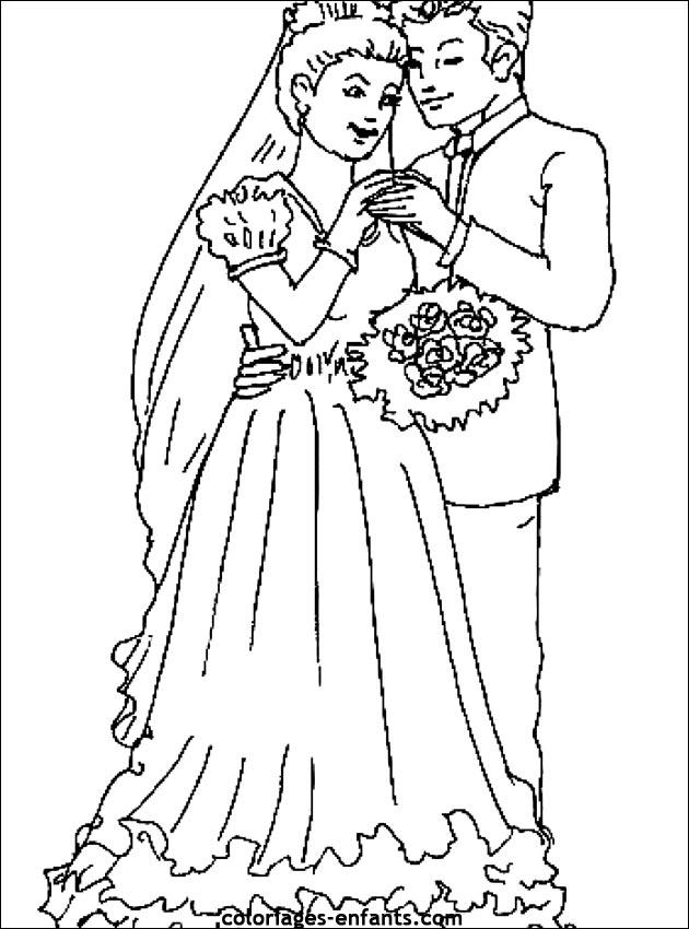 jeux de dessin à colorier mariage en ligne