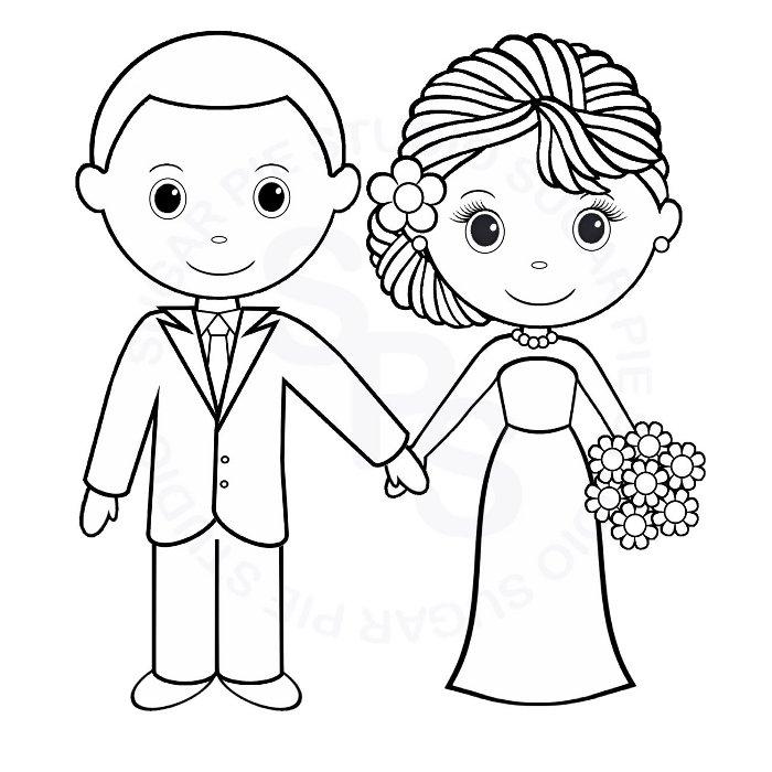 dessin à colorier mariage cendrillon