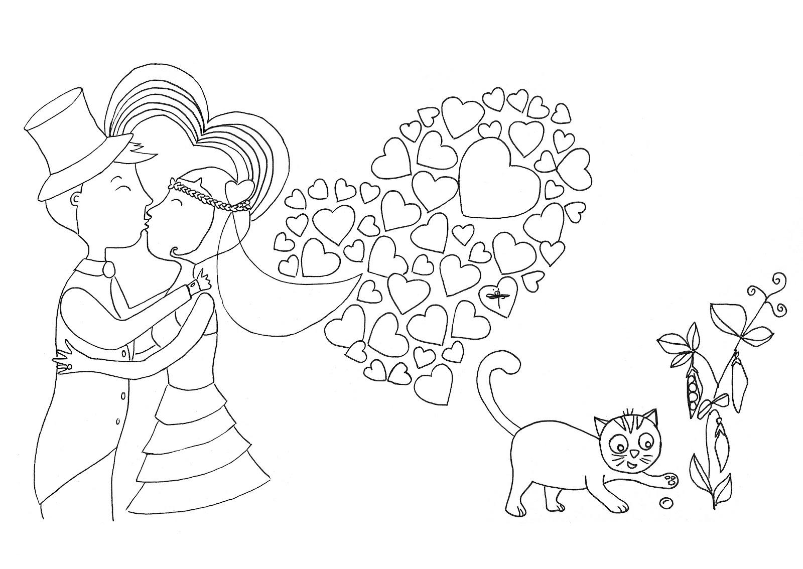 coloriage mandala mariage