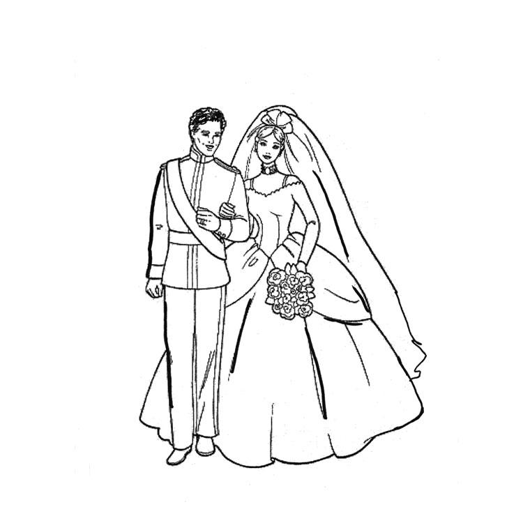 Coloriage dessiner mariage ariel - Coloriage mariage a imprimer ...