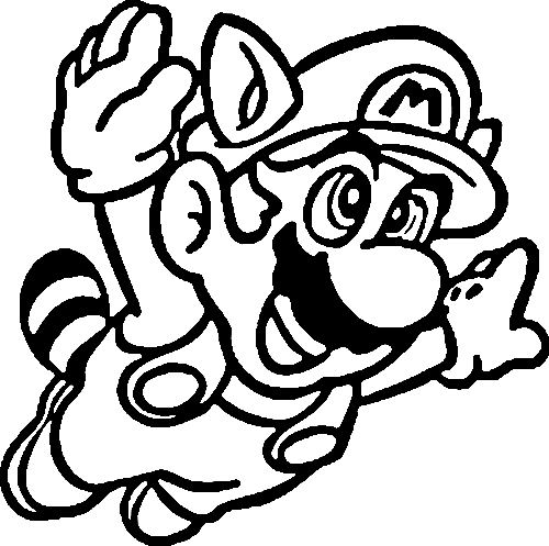 Coloriage A Dessiner De Super Mario Bros 3