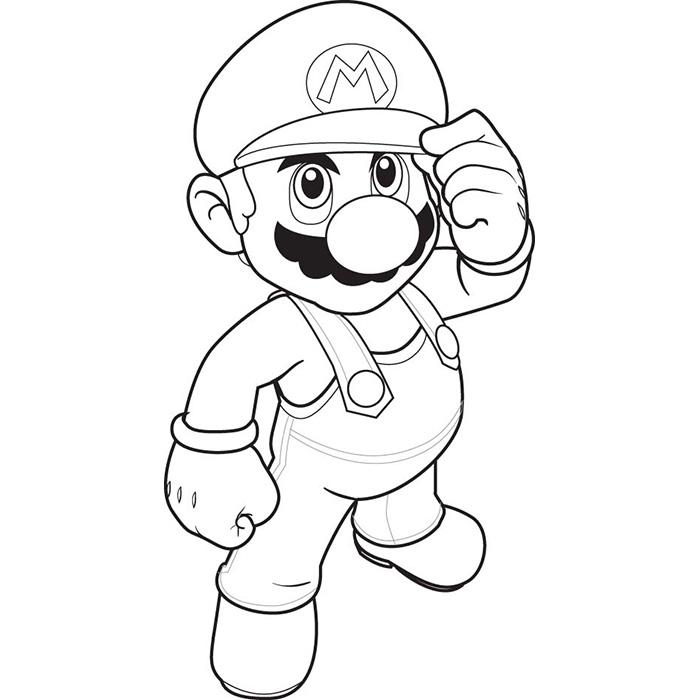Coloriage En Ligne Gratuit Mario.Dessin A Colorier Mario Bros En Ligne