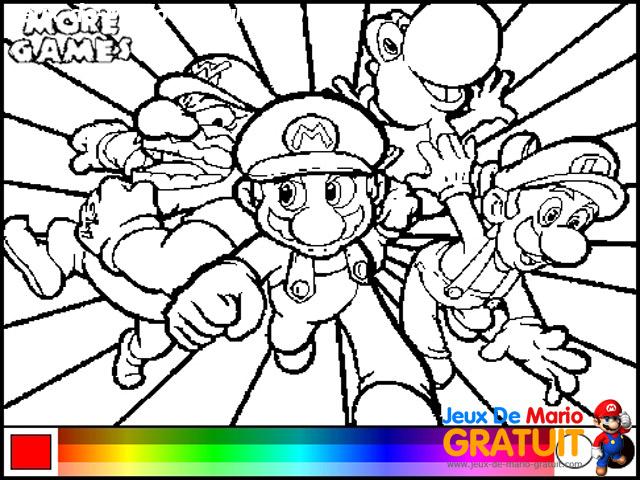 Mario kart dessin coloriage - Coloriage magique mario ...