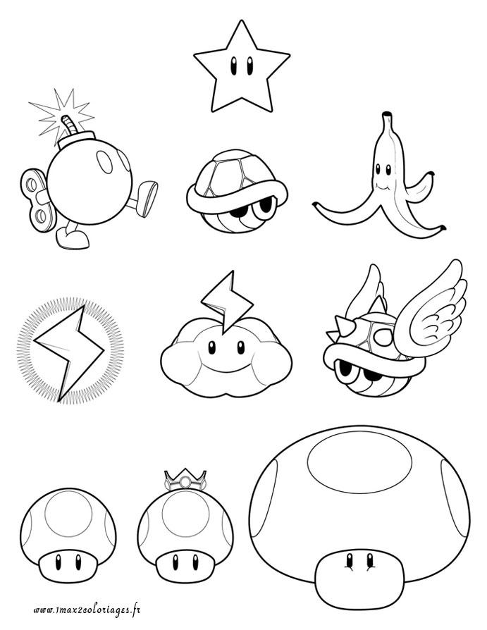 35 dessins de coloriage mario imprimer - Coloriage magique mario ...