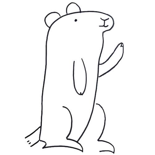 Coloriage ã Dessiner Marmotte Imprimer Gratuit