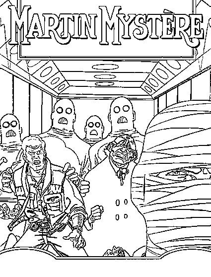 dessin � colorier martin mystere