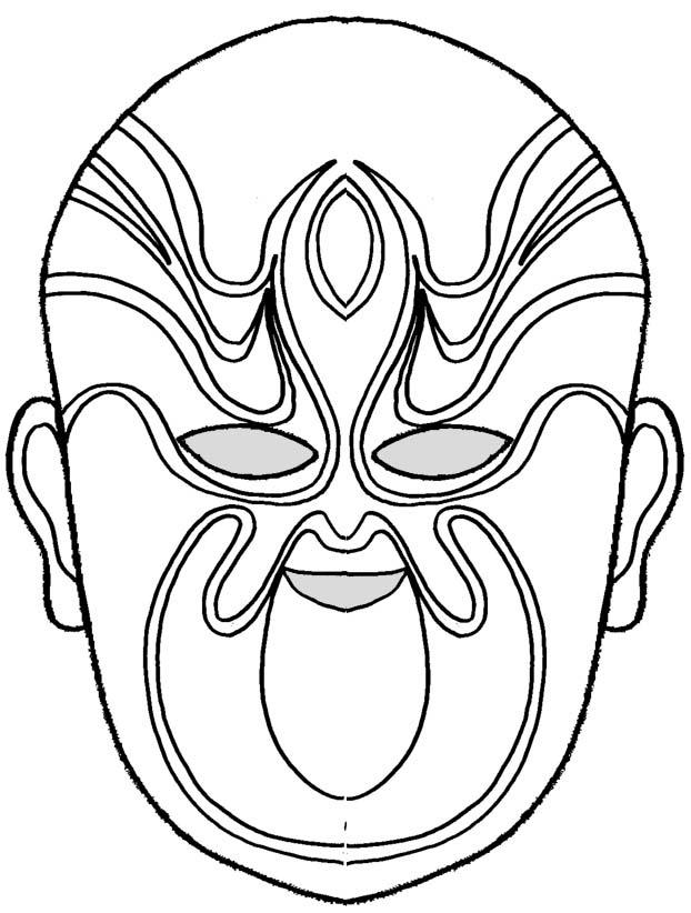 coloriage à dessiner masque de loup