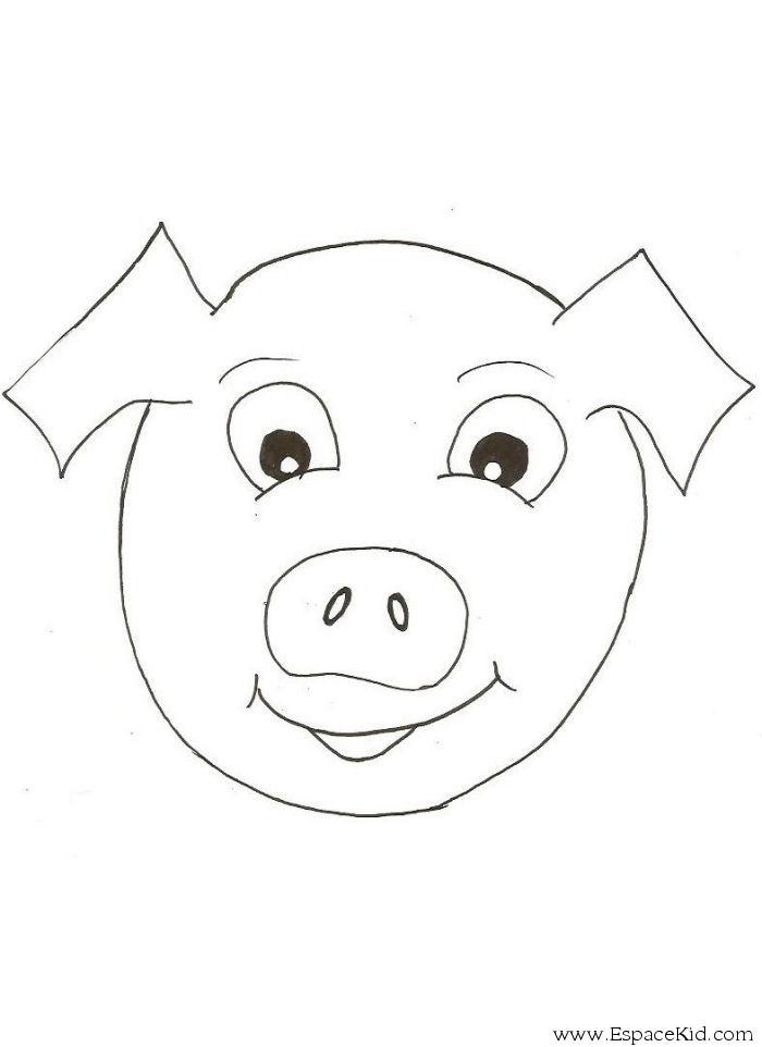 dessin à colorier masque animaux a imprimer gratuit