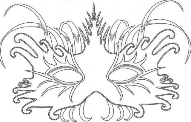 33 dessins de coloriage masque imprimer - Masque venitien a imprimer ...