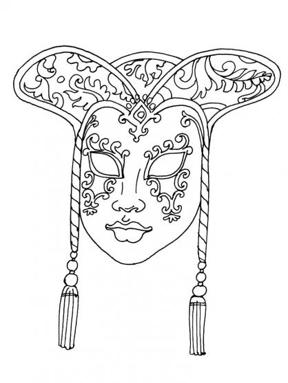 dessin masque toutankhamon