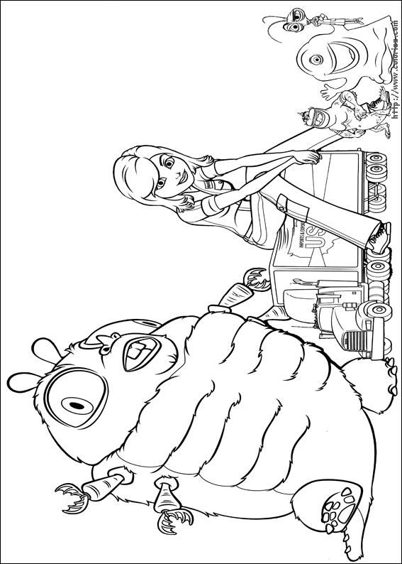 coloriage à dessiner de matt et les monstres