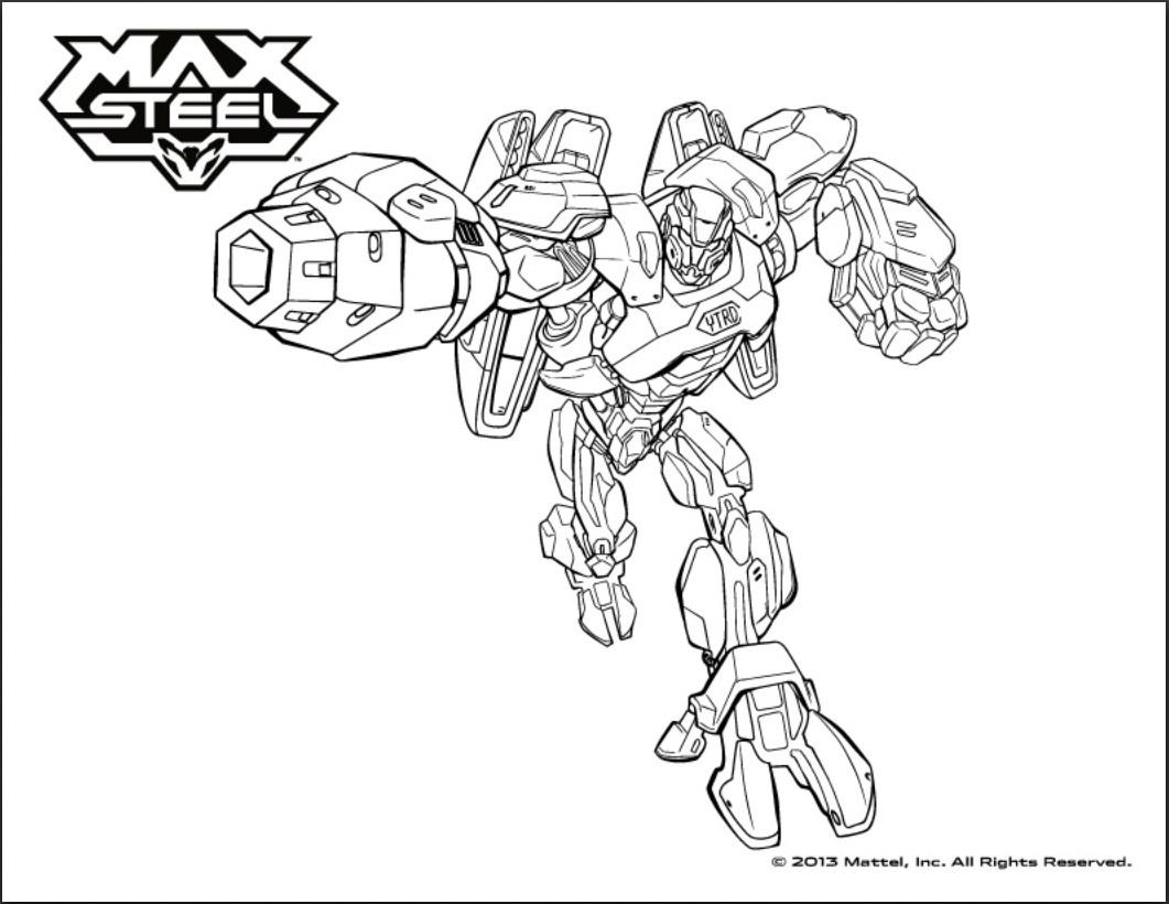 coloriage à dessiner de max steel a imprimer