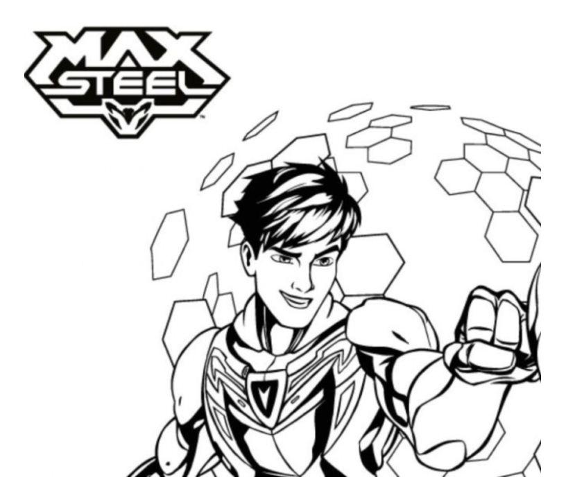 coloriage à dessiner max steel en ligne